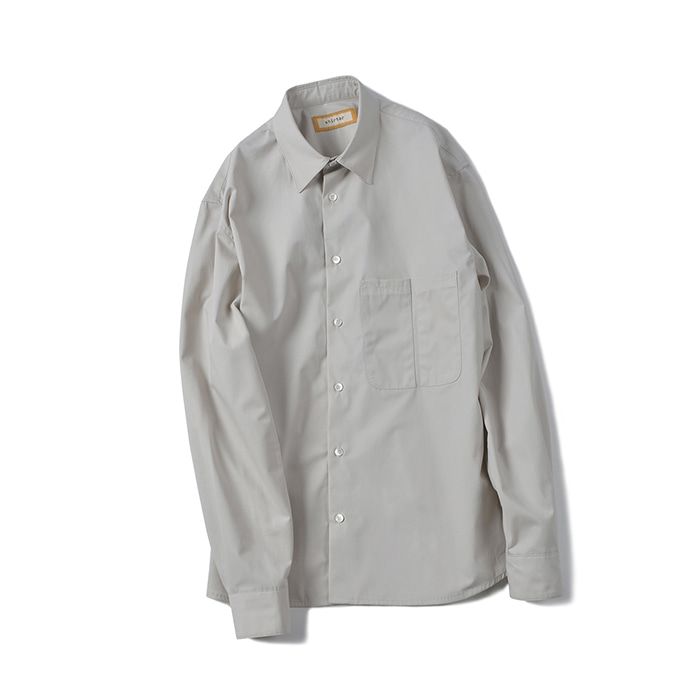 [shirter] SPLIT SHIRT_LIGHT GREY