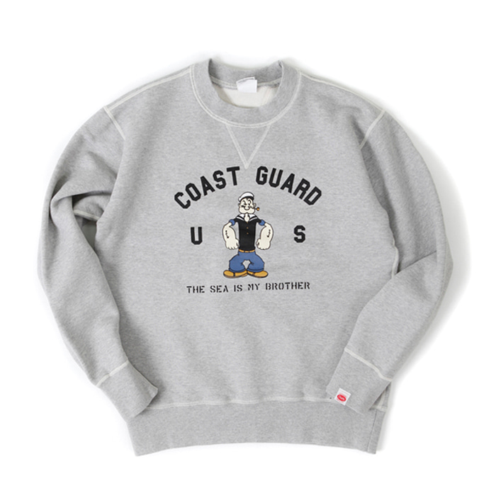 [아웃스탠딩] US COAST GUARD SWEAT SHIRT [MELANGE GRAY]