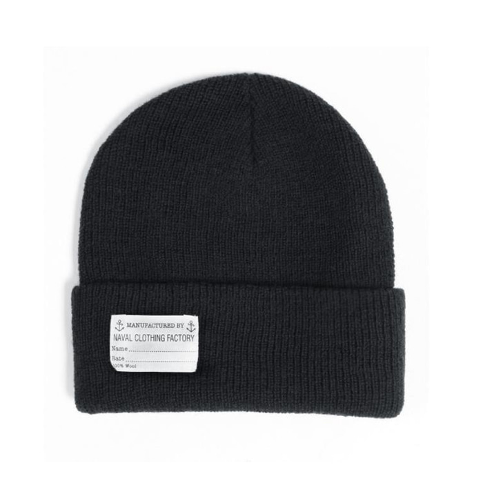 "[YMCL KY] US TYPE Navy Wool Watch Cap ""Black"""