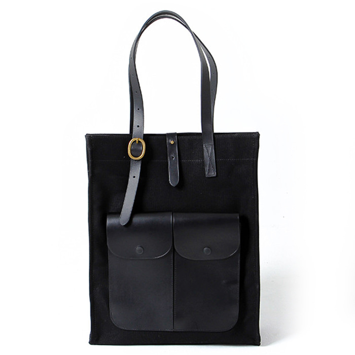 [PONDEROVER] Pocket tote_Black