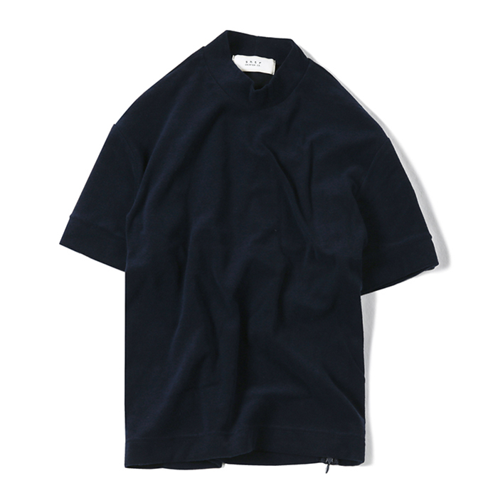 셔터 MOCK-NECK TOWEL T-SHIRT_NAVY