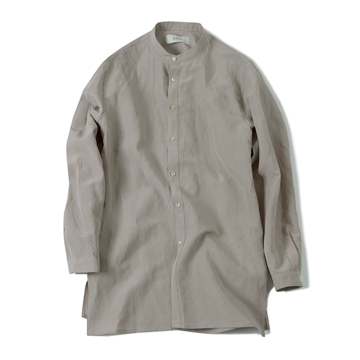 셔터 TENCEL LONG SHIRT_LIGHT BEIGE