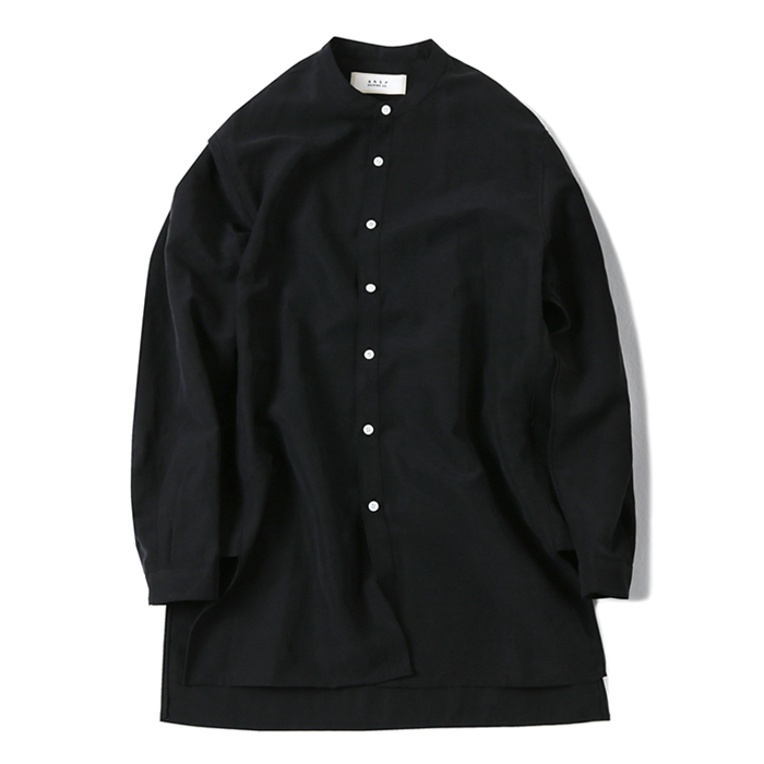 셔터 TENCEL LONG SHIRT_BLACK