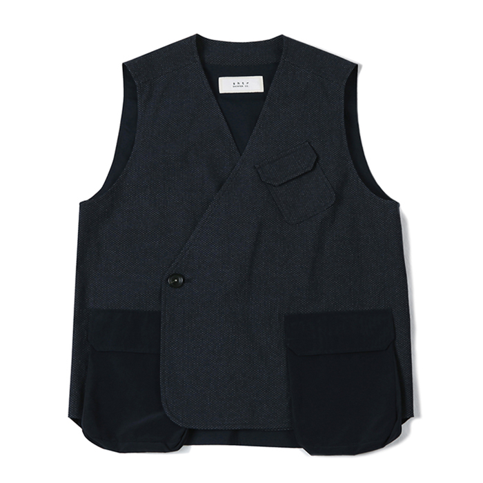 셔터 AIR POCKET DOUBLE VEST_NAVY