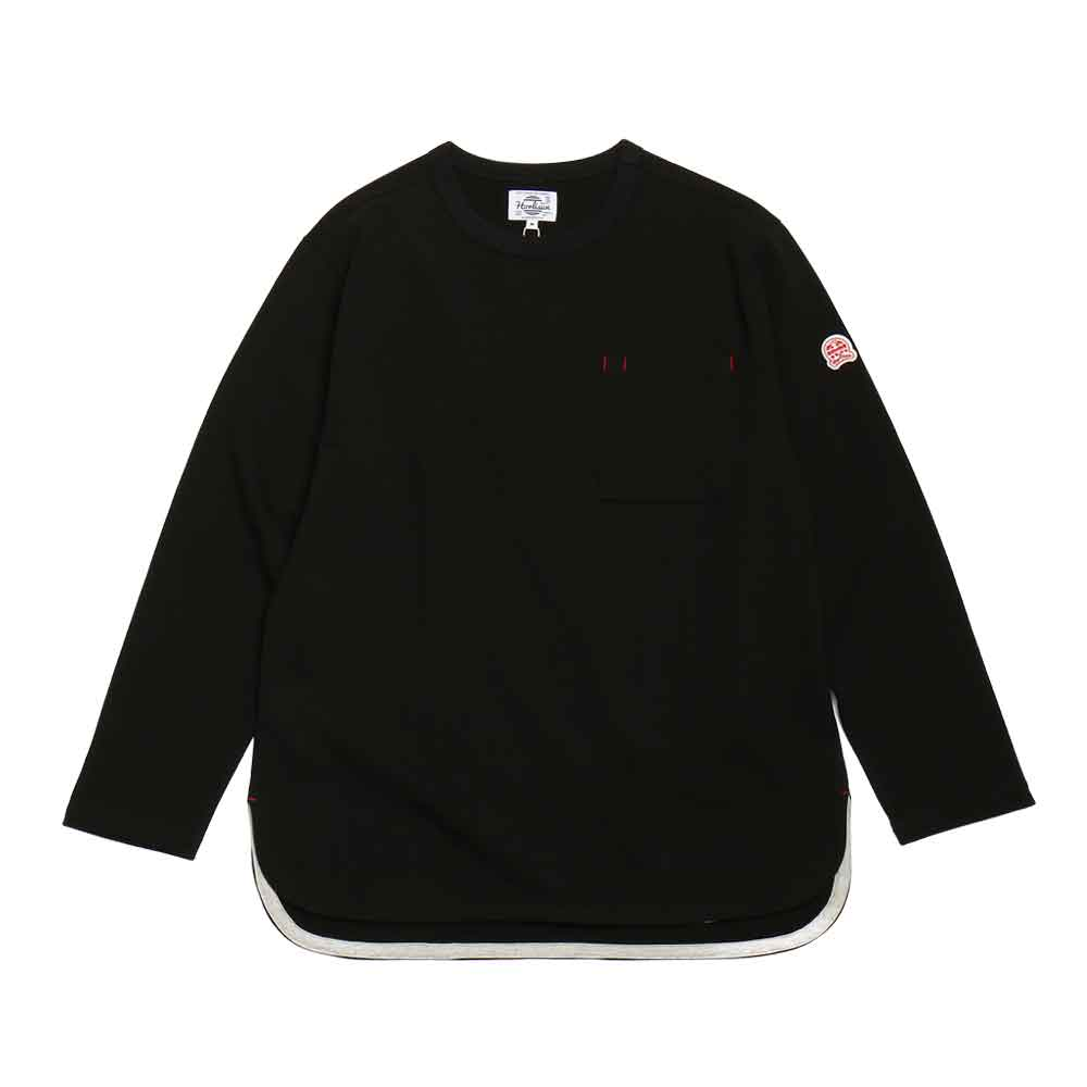홀리선 EMERY SPRING LONG SLEEVE POCKET T [Black]