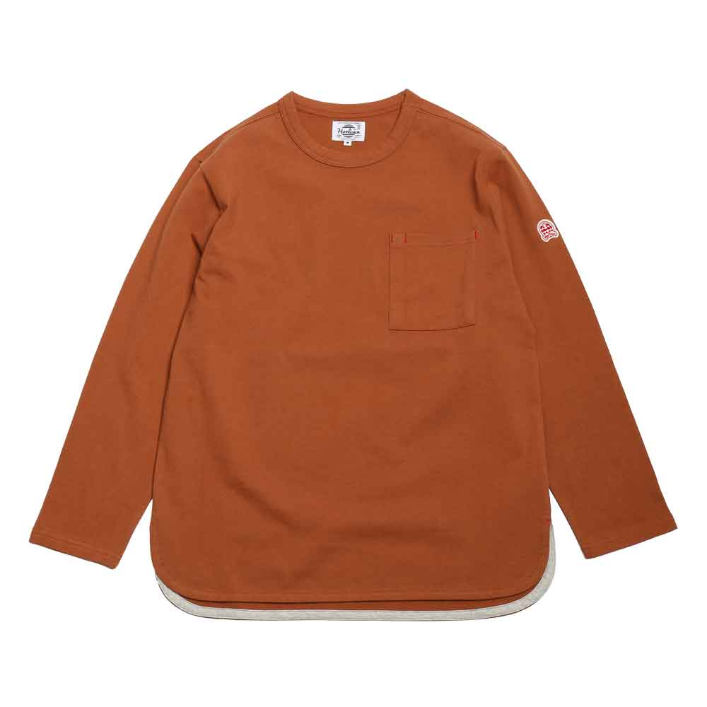 홀리선 EMERY SPRING LONG SLEEVE POCKET T [Camel]