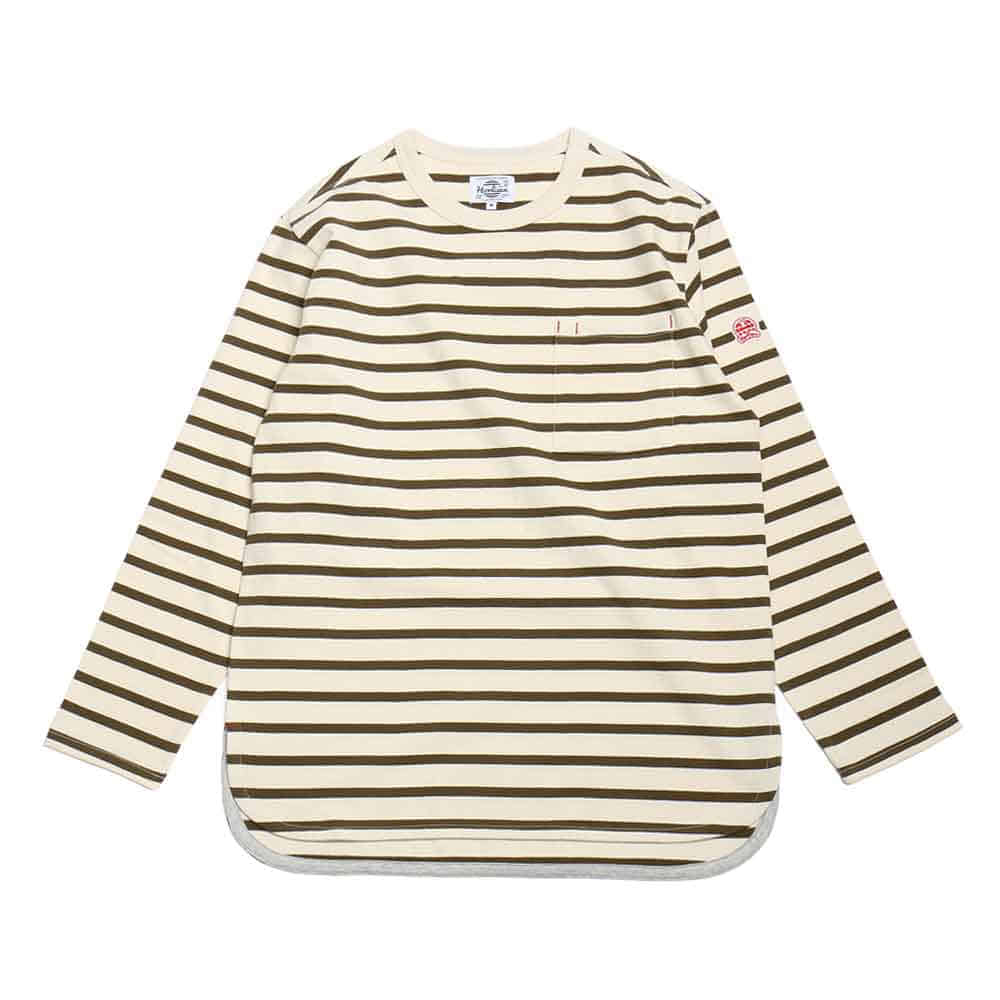 홀리선 POWELL POCKET STRIPE T [Olive]