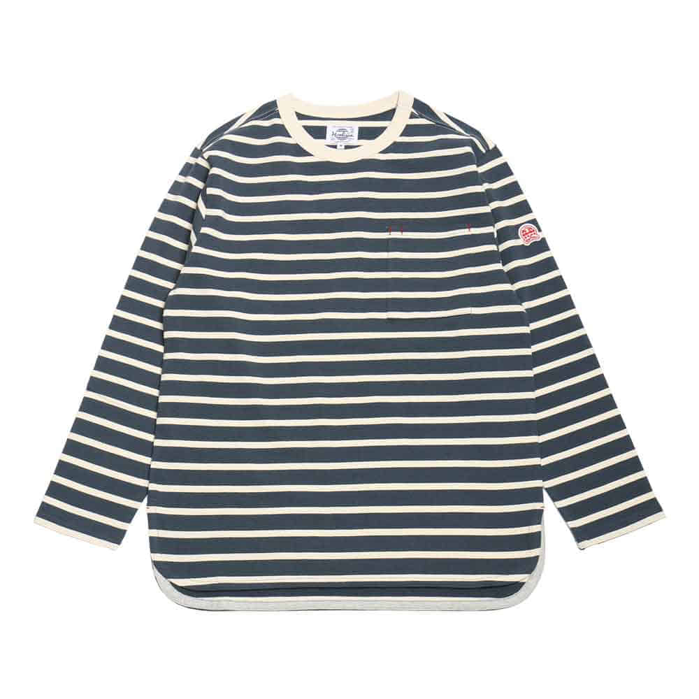 홀리선 POWELL POCKET STRIPE T [Blue]
