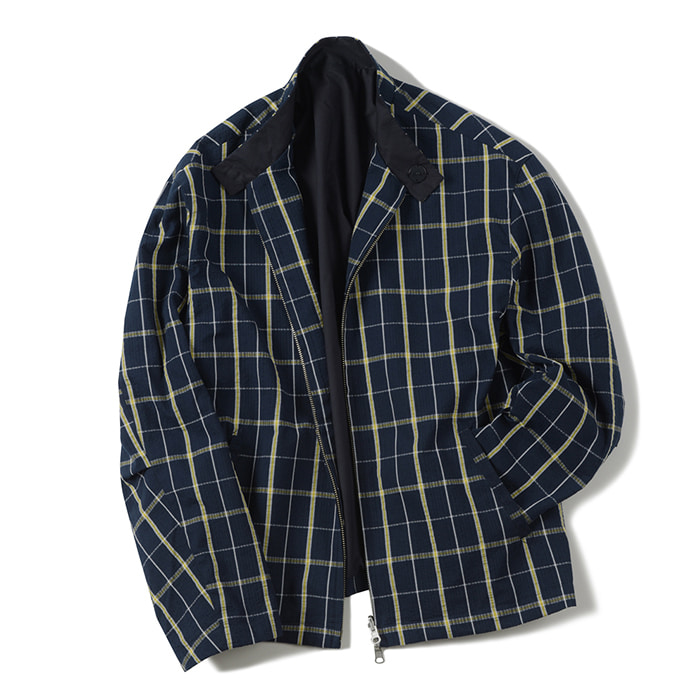 셔터 SEERSUCKER REVERSIBLE JACKET_NAVY