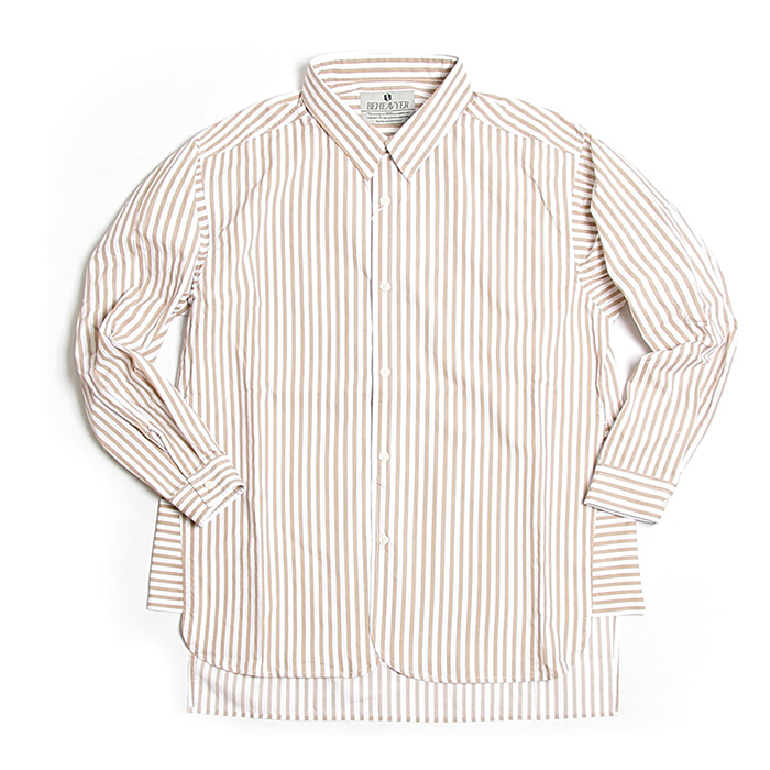 비헤비어 Fly shirts_BEIGE STRIPE