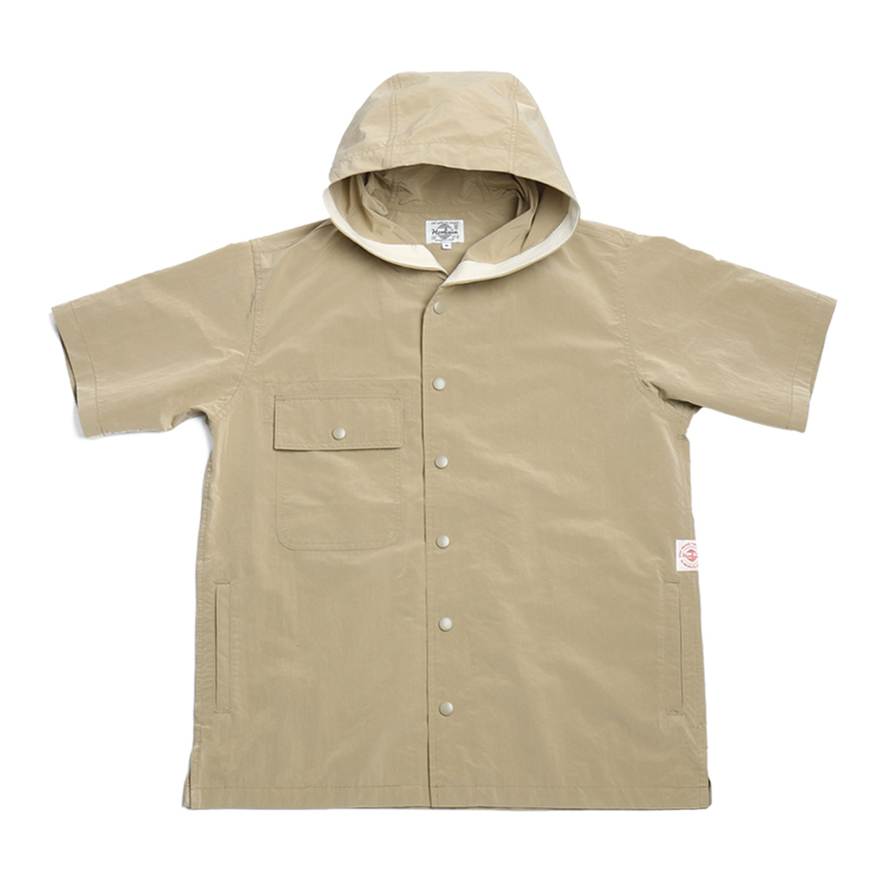 홀리선 Aspen Short Sleeve Button Hoodie Jacket_BEIGE