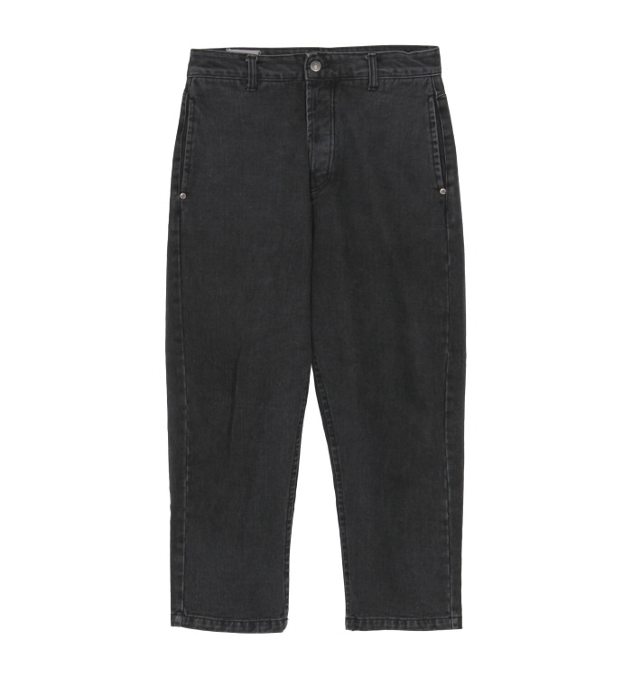 브라운야드 Washed denim Black