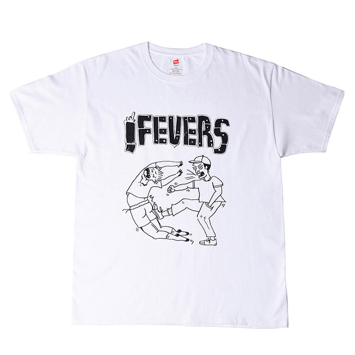 FEVERINC CARTOON FEVER TEE_WHITE