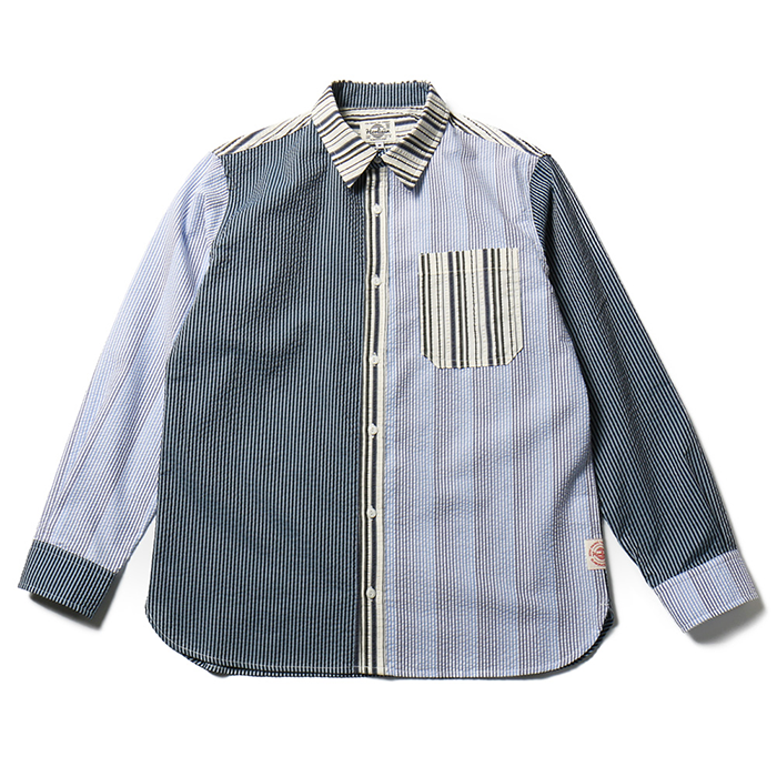 홀리선 Fairview Stripe Seersucker Shirts_Navy