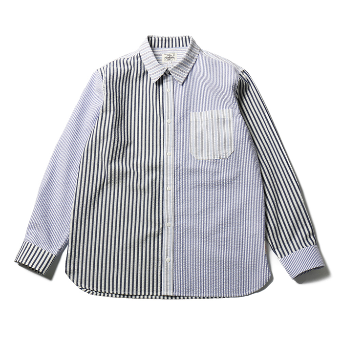 홀리선 Fairview Stripe Seersucker Shirts_White