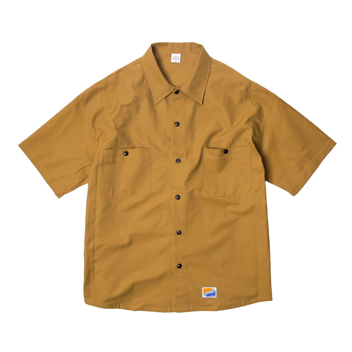 샌드파이퍼 BASIC OVERSIZED SHIRTS_MUSTARD