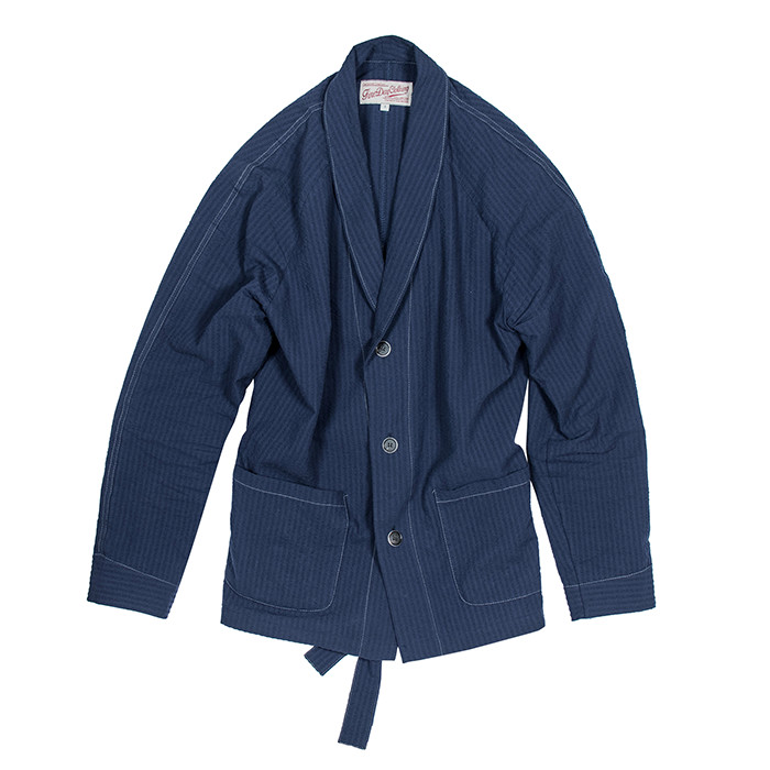 Fineday Clothing SEERSUCKER COMFORT JACKET_NAVY