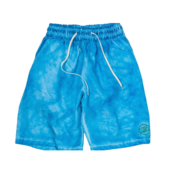 스틸휠즈 HAND GARMENT DYEING SHORT_BLUE