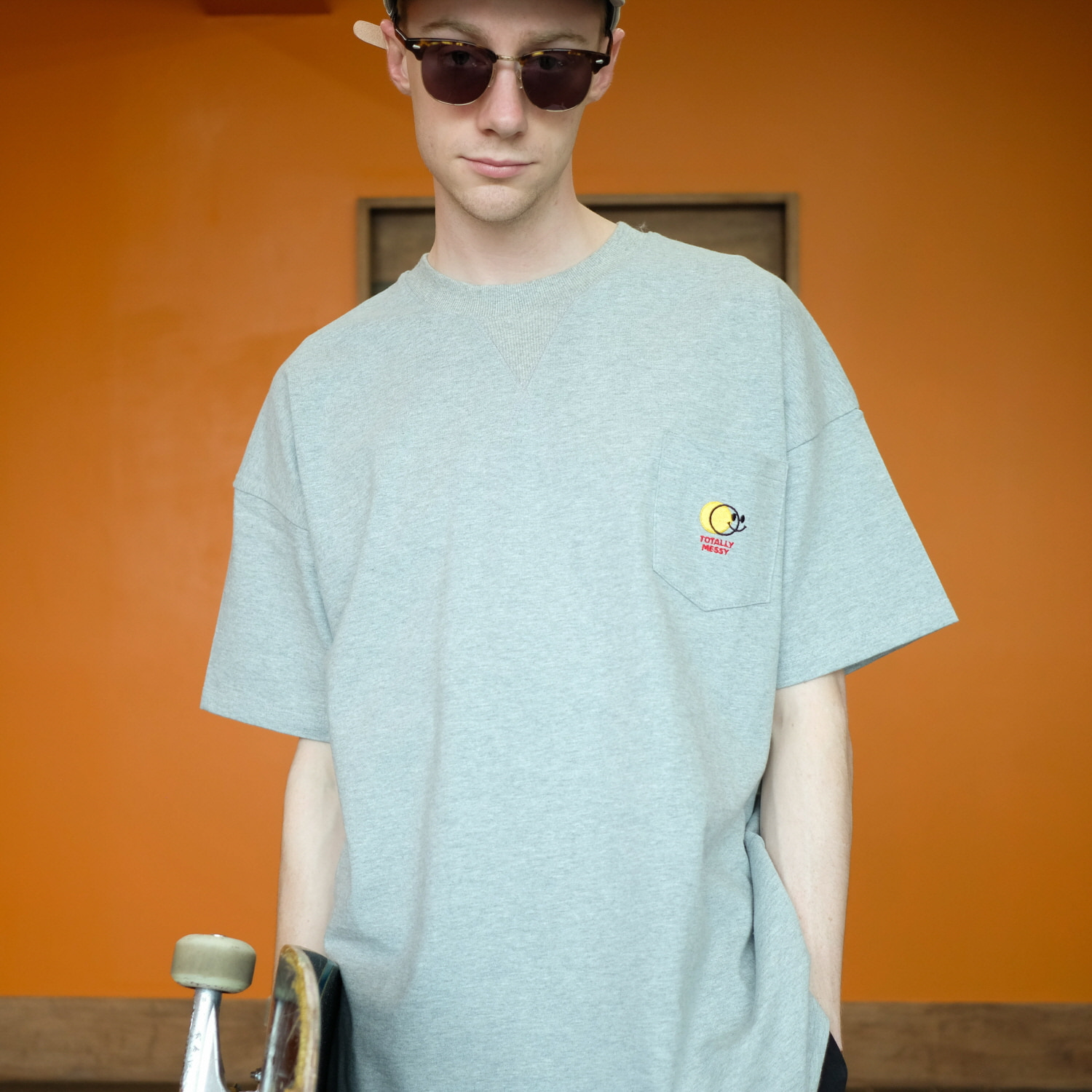 데일리인 Daily inn DD CARD WIDE TEE WITH POCKET (Heavy Weight)_GRAY (HEAVY WEIGHT DOUBLE COTTON)