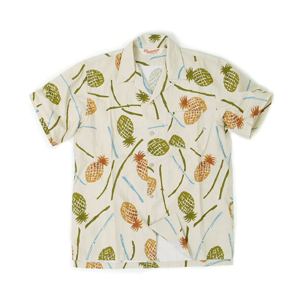 아웃스탠딩 PINEAPPLE HAWAIAN SHIRT_BEIGE