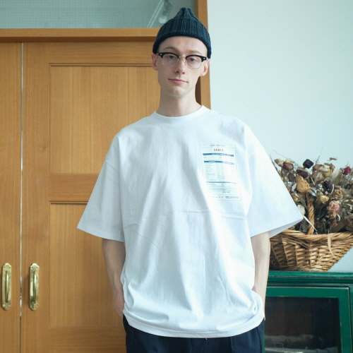 데일리인 HOTEL LAUNDROMAT OVERSIZED TEE (Strong Single Cotton)_WHITE