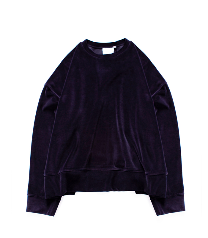 브라운야드  Wide Velour Pullover_Navy