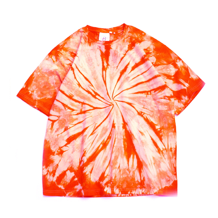 브라운야드 Hand Tie-dye T-shirt_Orange