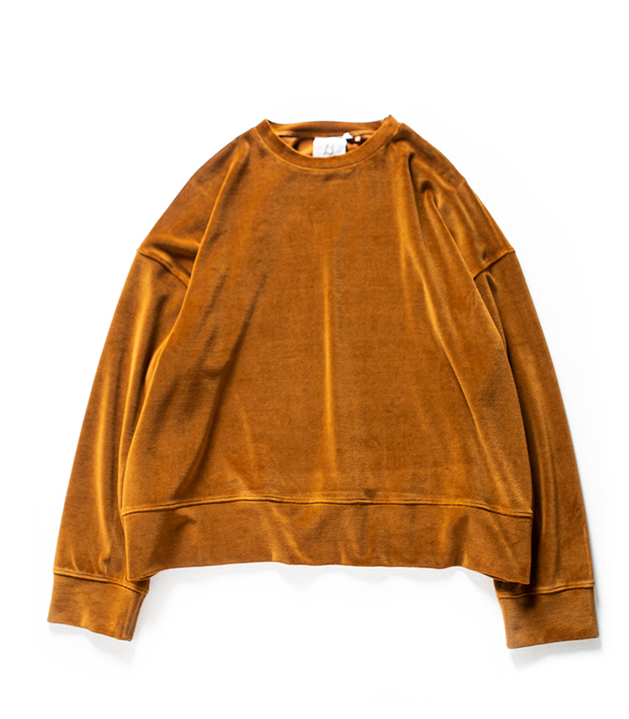 브라운야드  Wide Velour Pullover_Brown