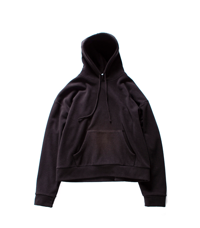 브라운야드 Wide Fleece Hoodie_Black