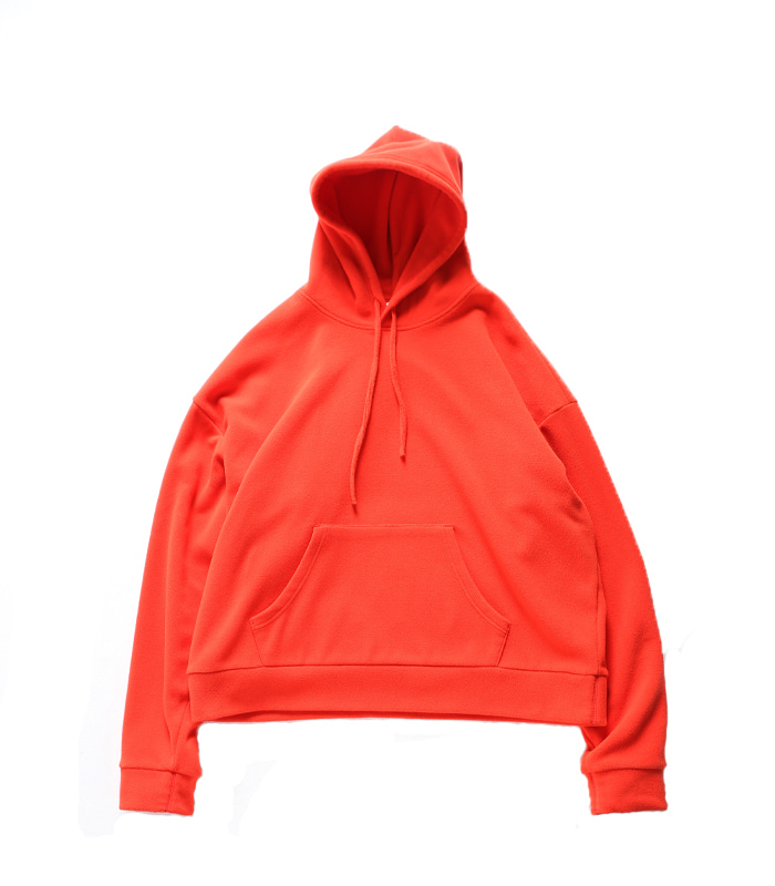 브라운야드 Wide Fleece Hoodie_Orange