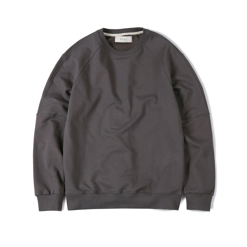 셔터 OVERSIZE CREW-NECK SWEAT SHIRT_Dark grey