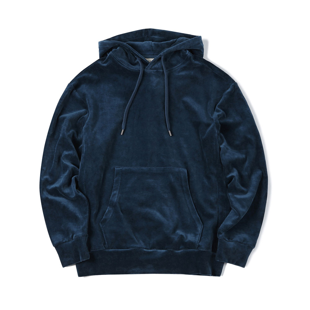 셔터 VELOUR SWEAT PARKA_Blue