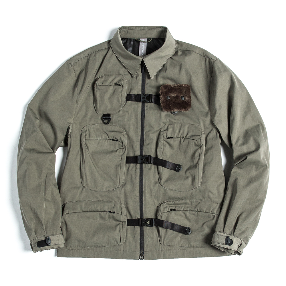언어팩티드 UTILITY FISHERMAN JUMPER_Sage Green