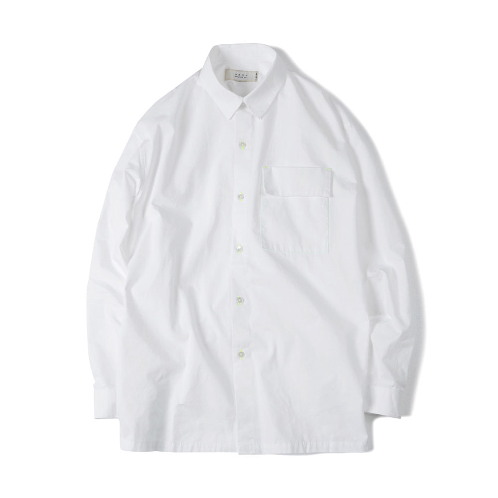 셔터 FISHING LINE POPLIN SHIRT_White