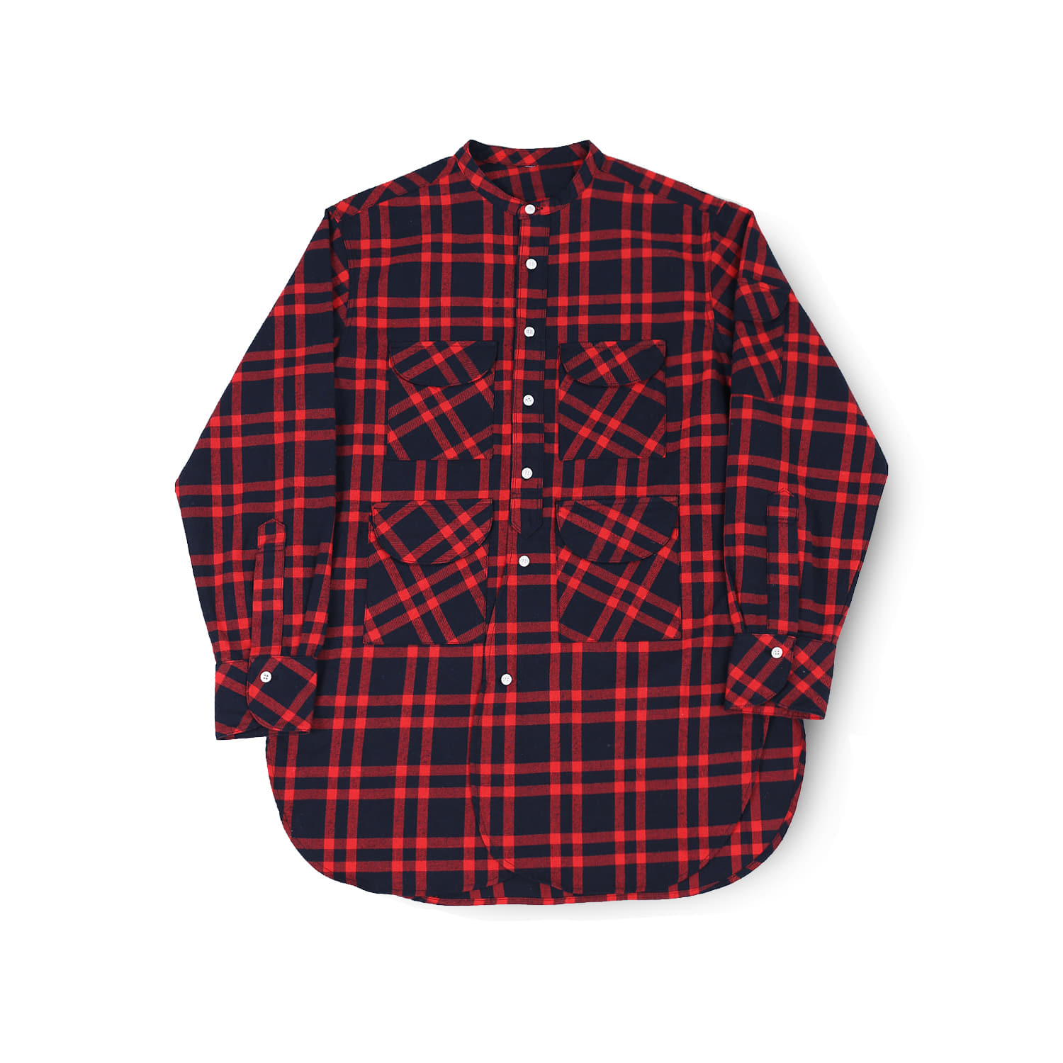 발루트 FISHERMAN TUNIC SHIRT_Red Tartan