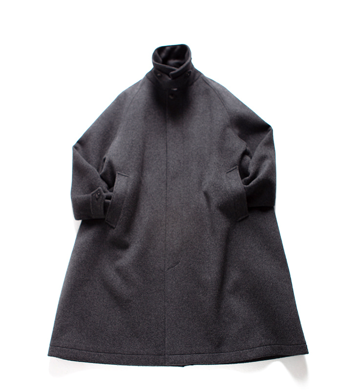 브라운야드 Balmacaan Coat_Grey