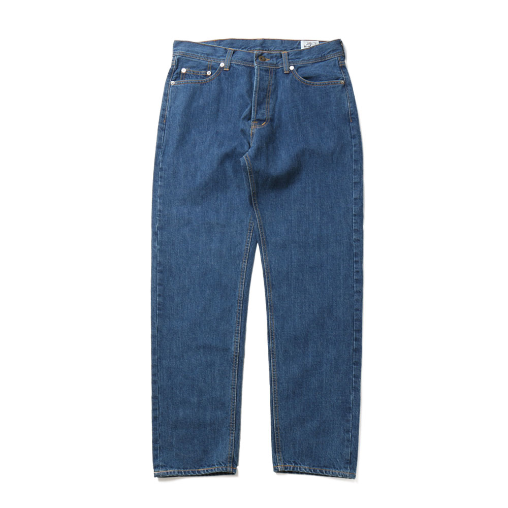 홀리선 Blueborn Loose Tapered Denim Pants_Light Navy
