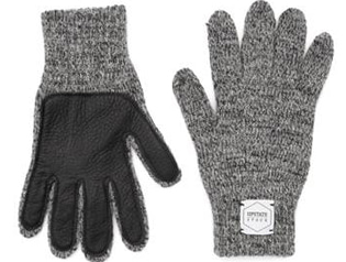 업스테이트스탁 Wool Glove (Palm Leather)_Charcoal