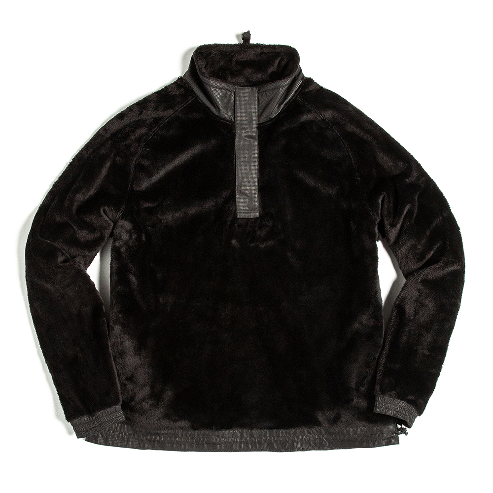 언어펙티드 PULLOVER SWEAT SHIRT_Black Shaggy Fleece