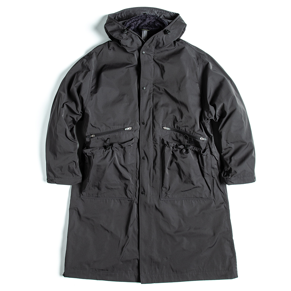 언어펙티드 OVERSIZED LONG PARKA_Charcoal