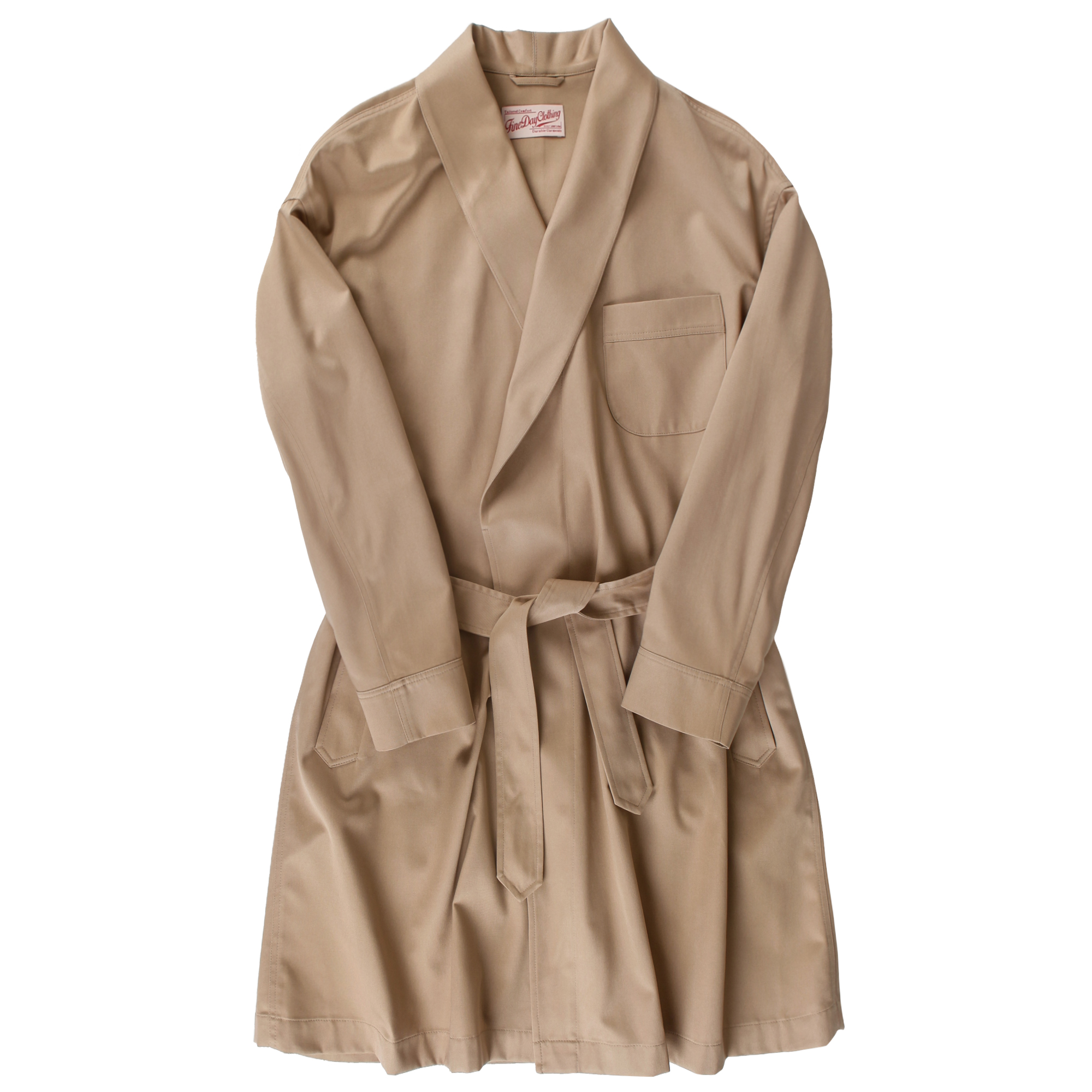 Fineday Clothing Shawl collar robe coat_Beige