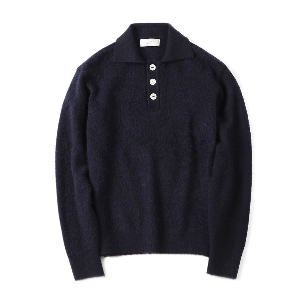 셔터 BRUSHED PIQUE KNIT_Navy