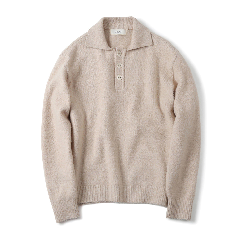 셔터 BRUSHED PIQUE KNIT_Ivory