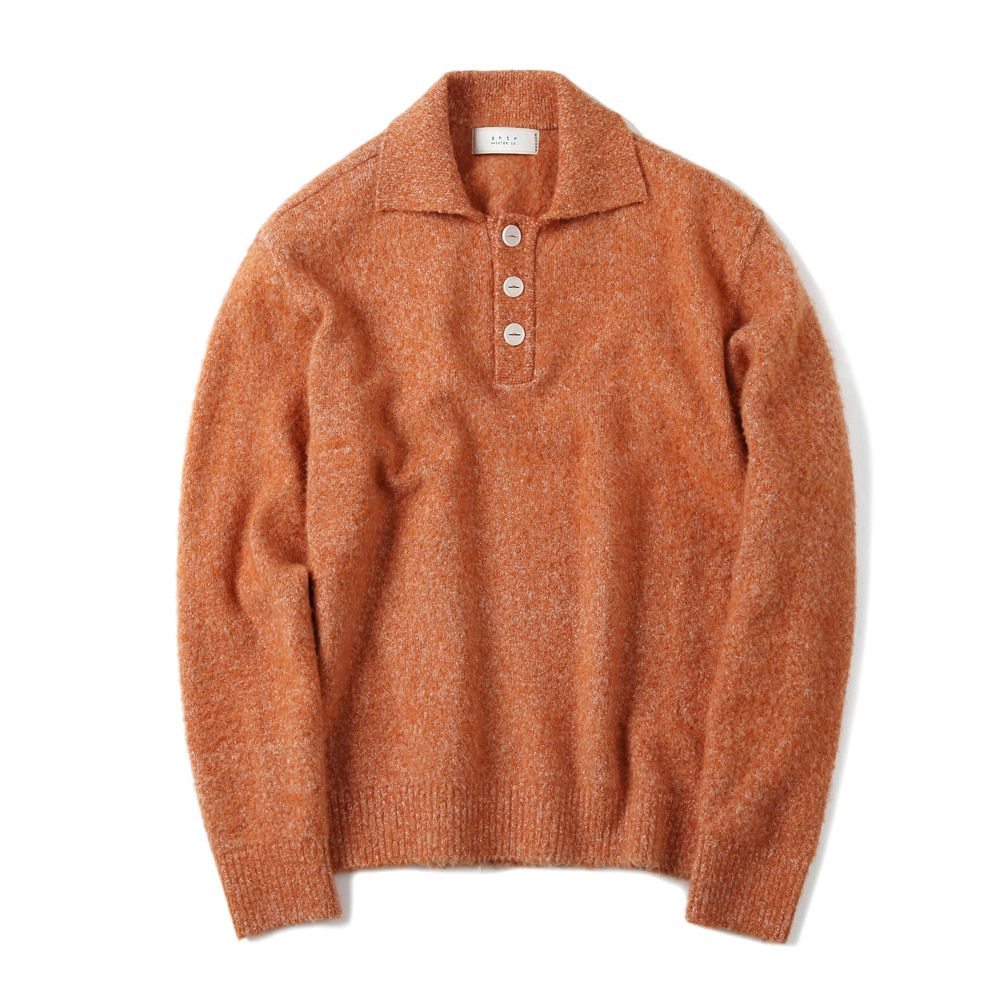 셔터 BRUSHED PIQUE KNIT_Orange