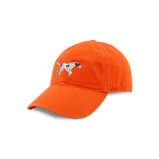 SMATHERS&BRANSON_Pointer Needlepoint Hat (Orange)