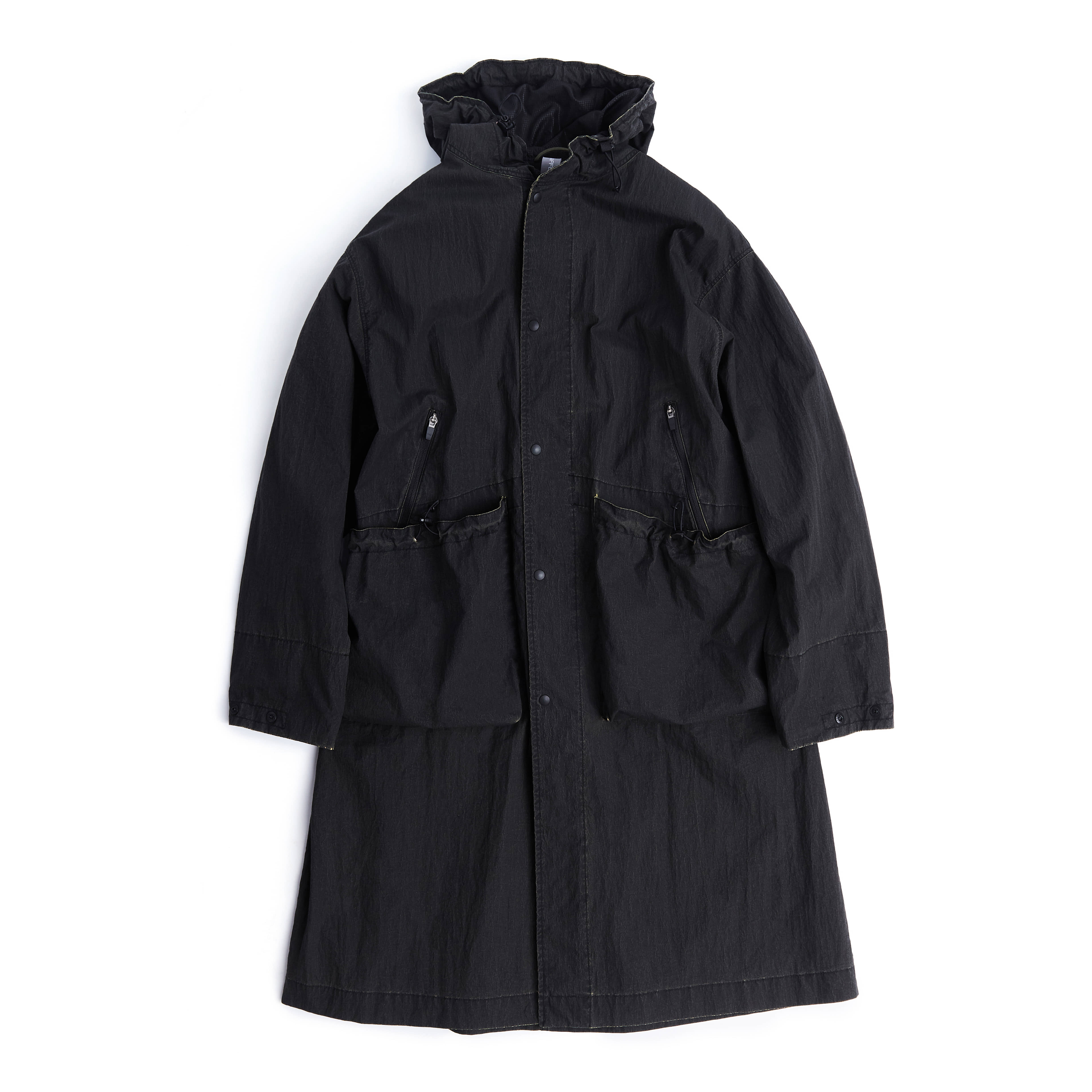 언어펙티드 OVERSIZED LONG PARKA_Cracked Black