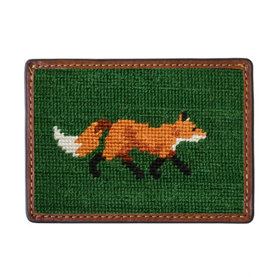 SMATHERS&BRANSON_Fox Needlepoint Card Wallet