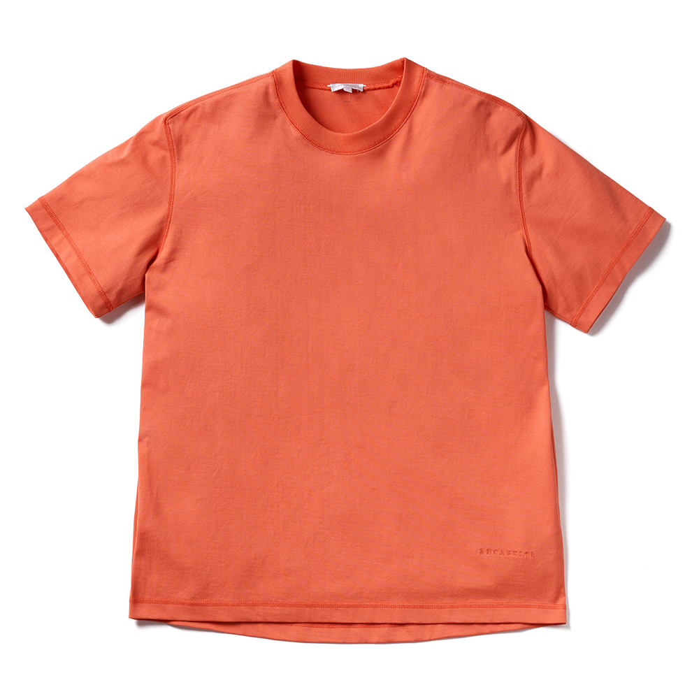 에이카화이트 LOUISE HALF SLEEVE TEE_Hot Coral