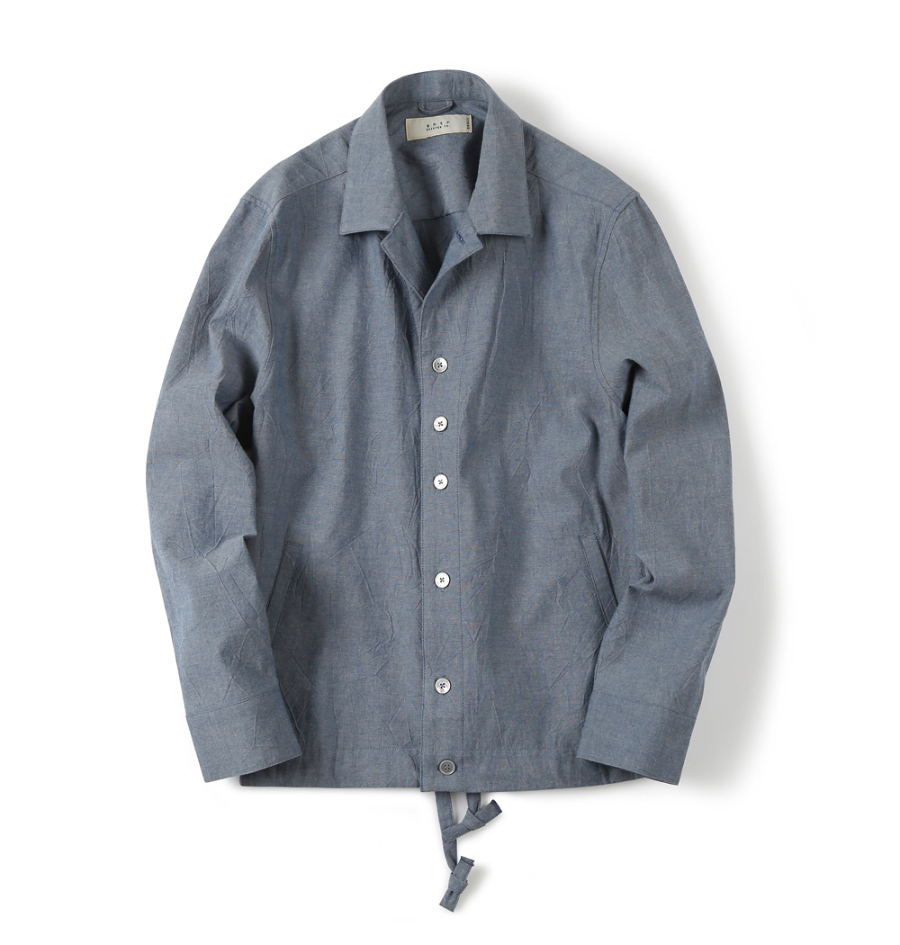 셔터 DRAWSTRING CHAMBRAY JACKET_Blue