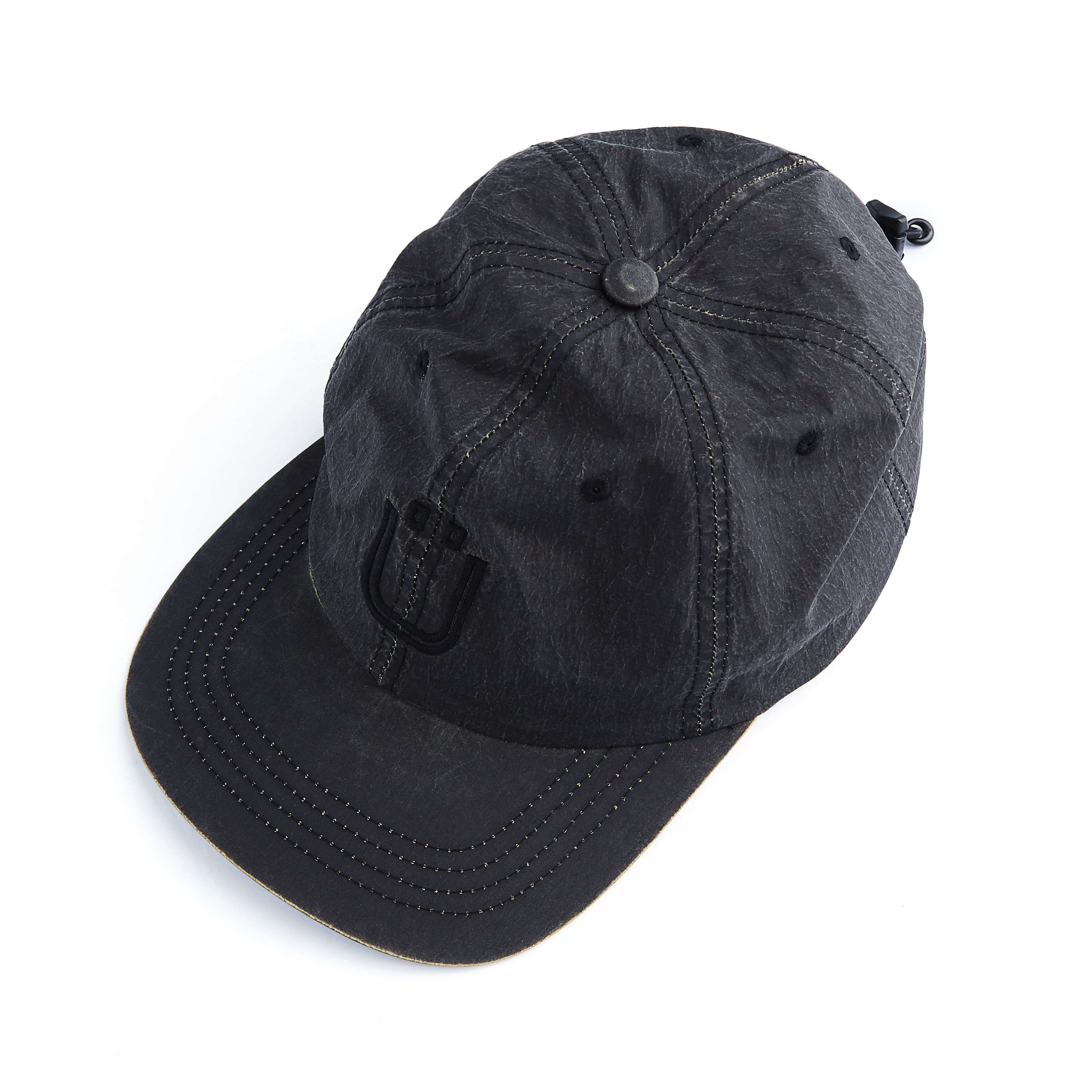 언어펙티드 DRAWSTRING BALL CAP_Cracked Black